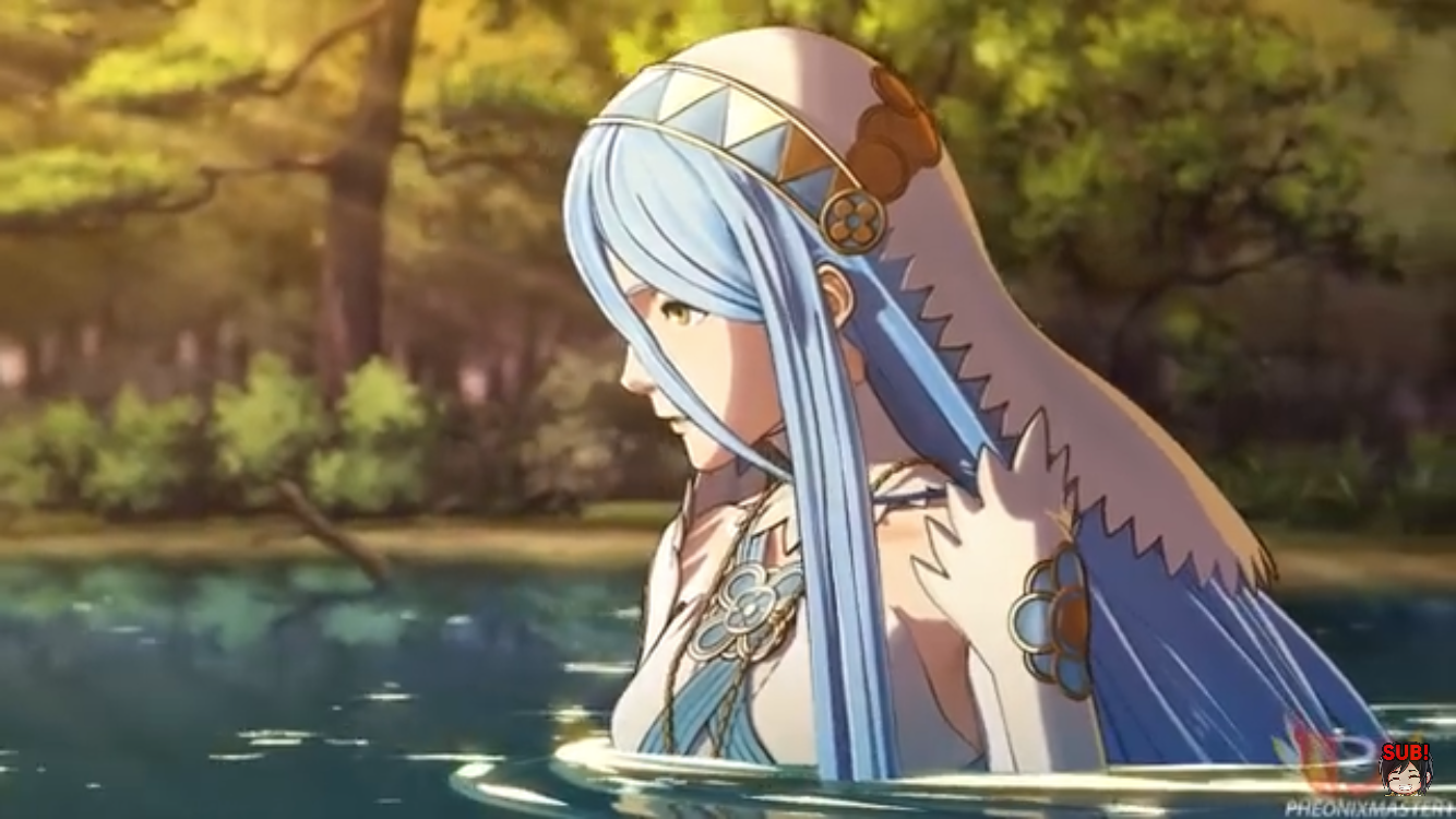 Azura drowning herself.