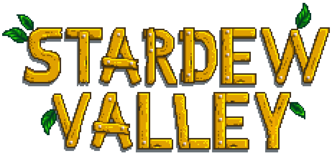 A transparent logo for the game Stardew Valley