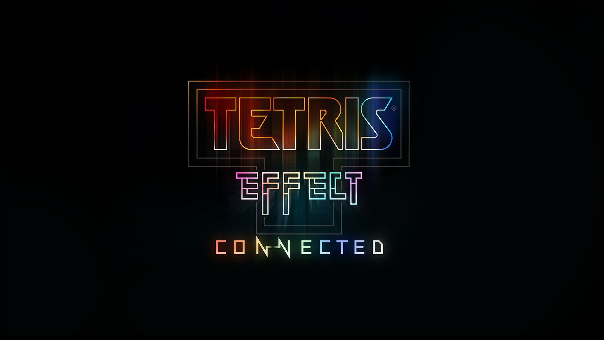 The Tetris Effect Connected logo on a black background.