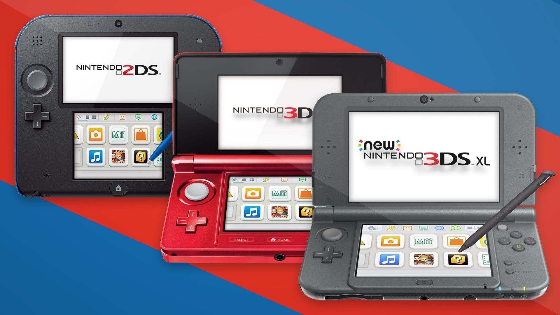 Pic of all three 3DS models