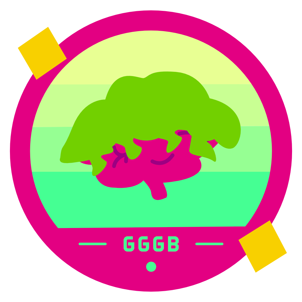 The Goopy Goblin Gamer Badge in all its Goopy Glory